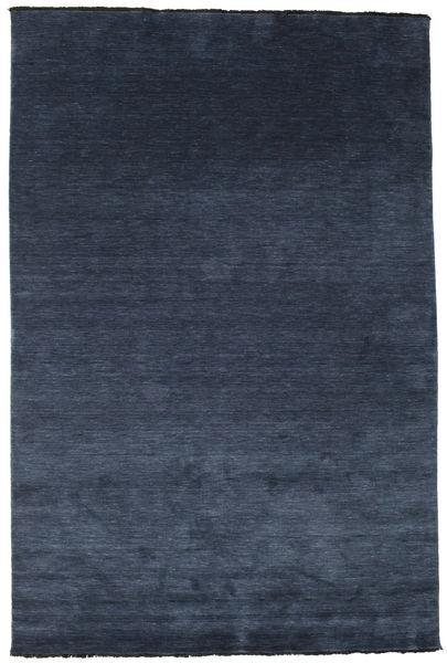 Χειροκίνητου Αργαλειού Fringes - Σκούρο Μπλε Χαλι 200X300 Σύγχρονα Σκούρο Μπλε/Μπλε (Μαλλί, Ινδικά)