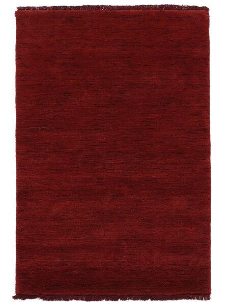 Χειροκίνητου Αργαλειού Fringes - Σκούρο Κόκκινο Χαλι 160X230 Σύγχρονα Kόκκινα (Μαλλί, Ινδικά)