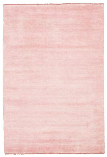 Χειροκίνητου Αργαλειού Fringes - Ροζ Χαλι 160X230 Σύγχρονα Ανοιχτό Ροζ (Μαλλί, Ινδικά)