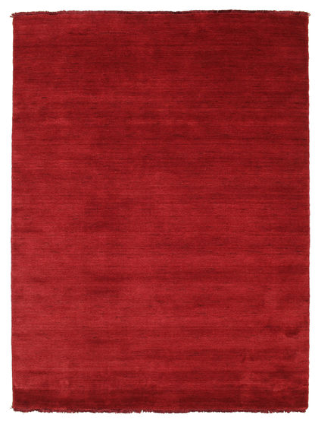 Χειροκίνητου Αργαλειού Fringes - Σκούρο Κόκκινο Χαλι 140X200 Σύγχρονα Kόκκινα (Μαλλί, Ινδικά)