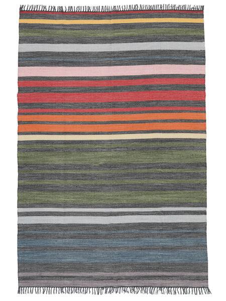 Rainbow Stripe - Γκρι Χαλι 160X230 Σύγχρονα Χειροποίητη Ύφανση Ανοιχτό Γκρι/Σκούρο Γκρι (Βαμβάκι, Ινδικά)