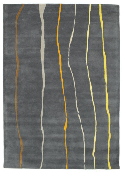 Flaws Handtufted - Γκρι Χαλι 160X230 Σύγχρονα Σκούρο Γκρι/Ανοιχτό Γκρι (Μαλλί, Ινδικά)