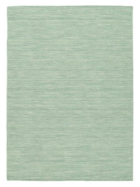 Κιλίμ Loom - Mint Λαδί Χαλι 160X230 Σύγχρονα Χειροποίητη Ύφανση Τυρκουάζ Μπλε/Παστέλ Πράσινο/Ανοικτό Μπλε (Μαλλί, Ινδικά)