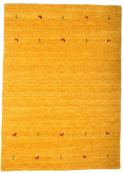 Γκάμπεθ Loom Two Lines - Yellow Χαλι 160X230 Σύγχρονα Πορτοκαλί/Ανοιχτό Καφέ (Μαλλί, Ινδικά)