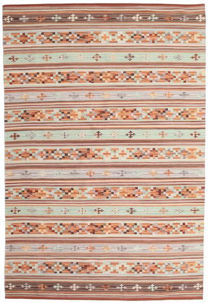 Κιλίμ Anatolian Χαλι 190X290 Σύγχρονα Χειροποίητη Ύφανση Σκούρο Κόκκινο/Ανοιχτό Γκρι (Μαλλί, Ινδικά)