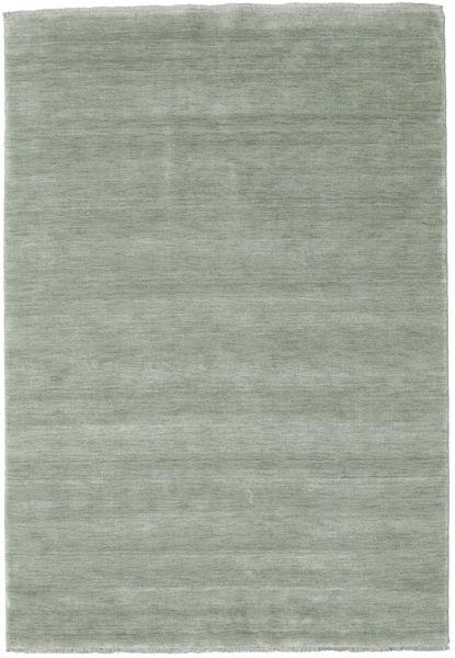 Χειροκίνητου Αργαλειού Fringes - Soft Teal Χαλι 160X230 Σύγχρονα Ανοιχτό Πράσινο (Μαλλί, Ινδικά)