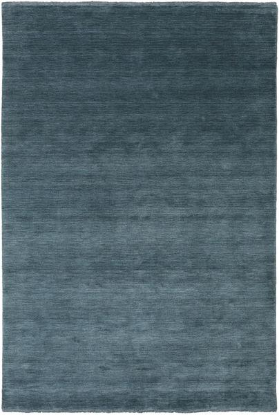Χειροκίνητου Αργαλειού Fringes - Deep Petrol Χαλι 200X300 Σύγχρονα Μπλε/Σκούρο Μπλε (Μαλλί, Ινδικά)