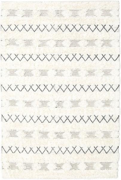 Shedir - White Χαλι 160X230 Σύγχρονα Χειροποίητη Ύφανση Μπεζ/Λευκό/Κρεμ (Μαλλί, Ινδικά)
