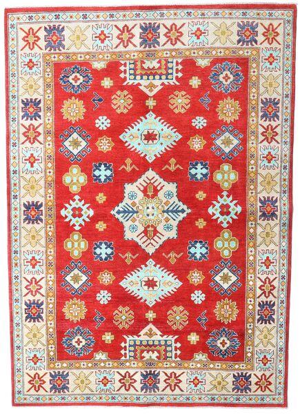 Kazak Χαλι 168X236 Ανατολής Χειροποιητο Μπεζ/Kόκκινα (Μαλλί, Πακιστανικά)