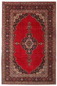 Keshan Πατίνα Χαλι 240X374 Ανατολής Χειροποιητο Σκούρο Κόκκινο/Σκούρο Καφέ (Μαλλί, Περσικά/Ιρανικά)
