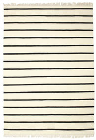 Dorri Stripe - White/Μαύρα Χαλι 220X320 Σύγχρονα Χειροποίητη Ύφανση Μπεζ/Λευκό/Κρεμ (Μαλλί, Ινδικά)