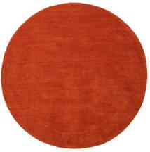 Χειροκίνητου Αργαλειού - Στο Χρώμα Της Σκουριάς/Κόκκινα Χαλι Ø 150 Σύγχρονα Στρογγυλο Στο Χρώμα Της Σκουριάς (Μαλλί, Ινδικά)