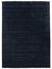 Χειροκίνητου Αργαλειού Fringes - Σκούρο Μπλε Χαλι 250X350 Σύγχρονα Σκούρο Μπλε Μεγαλα (Μαλλί, Ινδικά)