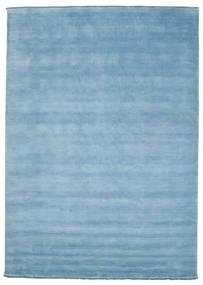 Χειροκίνητου Αργαλειού Fringes - Ανοικτό Μπλε Χαλι 250X350 Σύγχρονα Ανοικτό Μπλε Μεγαλα (Μαλλί, Ινδικά)