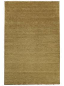 Χειροκίνητου Αργαλειού Fringes - Λαδί Χαλι 200X300 Σύγχρονα Καφέ/Λαδί (Μαλλί, Ινδικά)