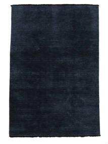 Χειροκίνητου Αργαλειού Fringes - Σκούρο Μπλε Χαλι 160X230 Σύγχρονα Σκούρο Μπλε (Μαλλί, Ινδικά)