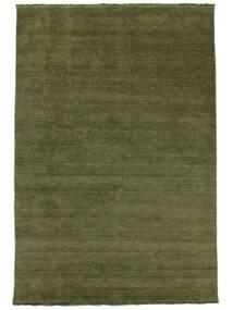 Χειροκίνητου Αργαλειού Fringes - Λαδί Χαλι 160X230 Σύγχρονα Λαδί (Μαλλί, Ινδικά)