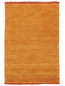 Χειροκίνητου Αργαλειού Fringes - Πορτοκαλί Χαλι 140X200 Σύγχρονα Πορτοκαλί/Ανοιχτό Καφέ (Μαλλί, Ινδικά)
