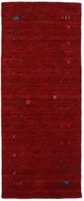 Γκάμπεθ Loom Frame - Κόκκινα Χαλι 80X200 Σύγχρονα Χαλι Διαδρομοσ Σκούρο Κόκκινο (Μαλλί, Ινδικά)