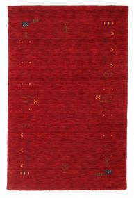Γκάμπεθ Loom Frame - Κόκκινα Χαλι 100X160 Σύγχρονα Kόκκινα/Σκούρο Κόκκινο (Μαλλί, Ινδικά)
