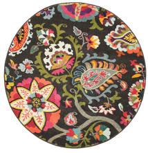 Allegra - Σκούρο Χαλι Ø 150 Σύγχρονα Στρογγυλο Σκούρο Γκρι ( Τουρκικά)