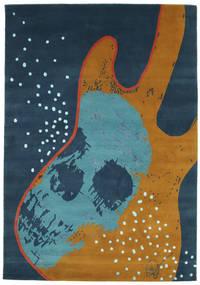 From Obscure Rythms Χαλι 135X190 Σύγχρονα Χειροποιητο Σκούρο Μπλε/Καφέ (Μαλλί, Ινδικά)