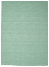 Κιλίμ Loom - Mint Λαδί Χαλι 250X350 Σύγχρονα Χειροποίητη Ύφανση Παστέλ Πράσινο/Τυρκουάζ Μπλε Μεγαλα (Μαλλί, Ινδικά)