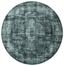 Jacinda - Σκούρο Χαλι Ø 300 Σύγχρονα Στρογγυλο Τυρκουάζ Μπλε/Μπλε Μεγαλα ( Τουρκικά)