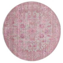 Maharani - Γκρι/Ροζ Χαλι Ø 150 Σύγχρονα Στρογγυλο Ανοιχτό Ροζ ( Τουρκικά)