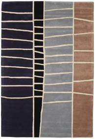 Abstract Μπαμπού Handtufted Χαλι 200X300 Σύγχρονα Σκούρο Μωβ/Ανοιχτό Γκρι (Μαλλί, Ινδικά)