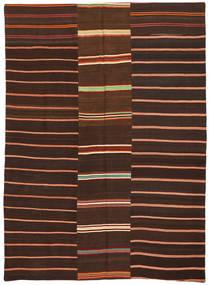 Κιλίμ Patchwork Χαλι 175X241 Σύγχρονα Χειροποίητη Ύφανση Σκούρο Καφέ/Σκούρο Κόκκινο (Μαλλί, Τουρκικά)