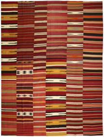 Κιλίμ Patchwork Χαλι 355X444 Σύγχρονα Χειροποίητη Ύφανση Σκούρο Κόκκινο/Kόκκινα Μεγαλα (Μαλλί, Τουρκικά)
