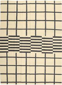 Κιλίμ Μοντέρνα Χαλι 210X285 Σύγχρονα Χειροποίητη Ύφανση Μπεζ/Μαύρα (Μαλλί, Αφγανικά)