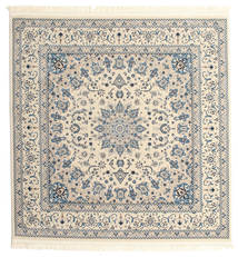 Nain Emilia - Cream/Light Μπλε Χαλι 150X150 Ανατολής Τετράγωνο Ανοιχτό Γκρι/Μπεζ ( Τουρκικά)