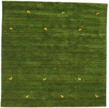 Γκάμπεθ Loom Two Lines - Λαδί Χαλι 200X200 Σύγχρονα Τετράγωνο Σκούρο Πράσινο (Μαλλί, Ινδικά)