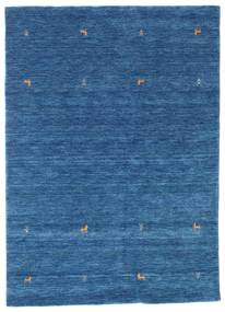 Γκάμπεθ Loom Two Lines - Μπλε Χαλι 160X230 Σύγχρονα Σκούρο Μπλε/Μπλε (Μαλλί, Ινδικά)