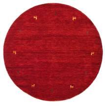 Γκάμπεθ Loom Two Lines - Κόκκινα Χαλι Ø 150 Σύγχρονα Στρογγυλο Kόκκινα/Σκούρο Κόκκινο (Μαλλί, Ινδικά)