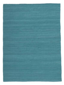 Κιλίμ Loom - Petrol Blue Χαλι 160X230 Σύγχρονα Χειροποίητη Ύφανση Μπλε/Τυρκουάζ Μπλε (Μαλλί, Ινδικά)