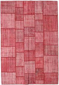 Patchwork Χαλι 205X300 Σύγχρονα Χειροποιητο Στο Χρώμα Της Σκουριάς/Ροζ (Μαλλί, Τουρκικά)