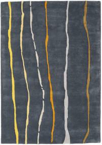 Flaws Handtufted - Γκρι Χαλι 140X200 Σύγχρονα Σκούρο Γκρι/Σκούρο Μπλε (Μαλλί, Ινδικά)