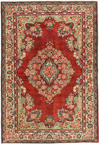 Sarough Πατίνα Χαλι 137X200 Ανατολής Χειροποιητο Σκούρο Κόκκινο/Στο Χρώμα Της Σκουριάς (Μαλλί, Περσικά/Ιρανικά)