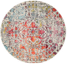 Kaleidoscope - Multi Χαλι Ø 200 Σύγχρονα Στρογγυλο Ανοιχτό Γκρι/Σκούρο Καφέ ( Τουρκικά)