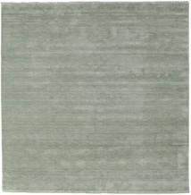 Χειροκίνητου Αργαλειού Fringes - Soft Teal Χαλι 250X250 Σύγχρονα Τετράγωνο Ανοιχτό Πράσινο Μεγαλα (Μαλλί, Ινδικά)