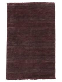 Χειροκίνητου Αργαλειού Fringes - Deep Wine Χαλι 160X230 Σύγχρονα Σκούρο Μωβ/Σκούρο Καφέ (Μαλλί, Ινδικά)