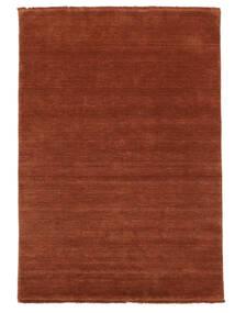 Χειροκίνητου Αργαλειού Fringes - Deep Rust Χαλι 160X230 Σύγχρονα Στο Χρώμα Της Σκουριάς/Σκούρο Κόκκινο (Μαλλί, Ινδικά)