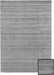 Μπαμπού Grass - Black_ Γκρι Χαλι 160X230 Σύγχρονα Ανοιχτό Γκρι/Σκούρο Γκρι (Μαλλί/Μπαμπού Μετάξι, Τουρκικά)