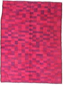 Colored Βιντάζ Χαλι 144X195 Σύγχρονα Χειροποιητο Ροζ/Kόκκινα (Μαλλί, Τουρκικά)