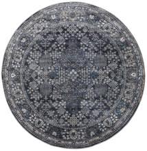 Monza - Σκούρο Γκρι Χαλι Ø 150 Σύγχρονα Στρογγυλο Σκούρο Γκρι/Μαύρα ( Τουρκικά)
