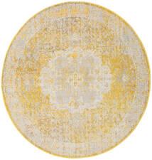 Nadia - Yellow Χαλι Ø 200 Σύγχρονα Στρογγυλο Σκούρο Μπεζ/Μπεζ/Λευκό/Κρεμ ( Τουρκικά)