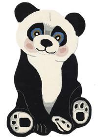 Panda Baby Χαλι 100X160 Σύγχρονα Σκούρο Γκρι/Μπεζ (Μαλλί, Ινδικά)